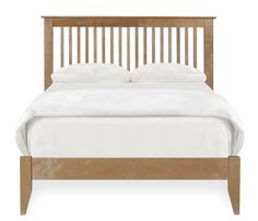 Woodstock Full Slat Bed - Exclusive to Boston Interiors, the Woodstock is stocked in a medium natural high quality catalyzed finish for easy care and durability. Headboard and