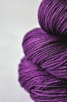swoon... Poisoned by love- Merino/Silk superwash yarn fingering weight. €18.50, via Etsy.
