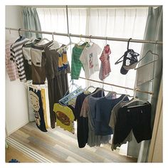 Laundry Room Organization, Space Saving, House Rooms, Small Spaces, Hanging Clothes Racks, Trending Decor, Home, Home Decor, Room