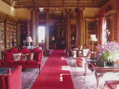 The Library at Highclere Castle.