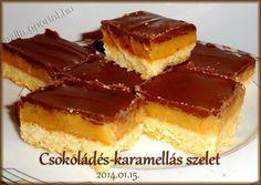 Csokoládés-karamellás szelet - Aliz konyhája - minden recepthez fázisfotók