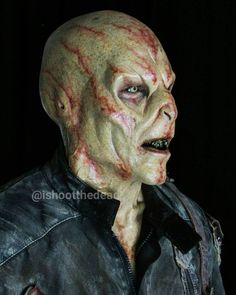 Horror Society: Amazing Zombie Make-up Art by Sidney Cumbie.|CutPasteStudio| Illustrations, Entertainment, beautiful,creativity, Artist, Art, artwork, fashion, makeup art.