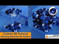 Growing Selection For Clones (Cinema Tutorial) Make Tutorial, After Effect Tutorial, Cinema 4d Tutorial, Animation Tutorial, Graphic Design Tutorials, Art Tutorials, Motion Design, Cgi, Illustrator