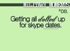 Military spouses definitely do this :)