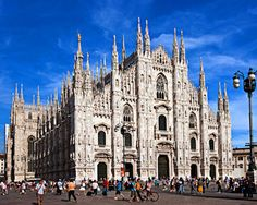 Milan Cathedral, Milan Italy--Construction began in 1386 and was completed in 1965.