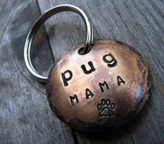 Pug Mama, Dog Lover Keychain... the perfect gift by theCopperPoppy, $14.25