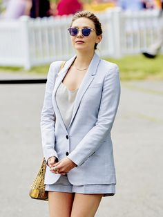 Star Tracks: Monday, June 2016 - FEELING BLUE Elizabeth Olsen attended the annual Veuve Clicquot Polo Classic in New Jersey on Saturday. Elizabeth Chase Olsen, Elizabeth Olsen Scarlet Witch, Godzilla, Olsen Sister, Beautiful Girl Image, Beautiful Ladies, Star Track, Hollywood Actor, Hollywood Style