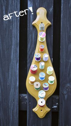 Image detail for -DIY: Upcycled Spool Holder | The Spotted Fox    great for sewing room