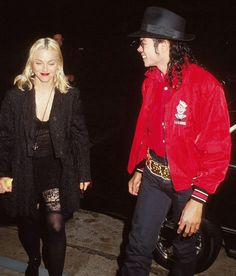 Michael Jackson and Madonna. I can't believe they dated.