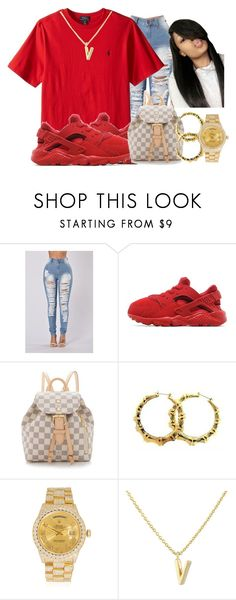 """❌"" by queenarmanii ❤ liked on Polyvore featuring !iT Collective, NIKE, Louis Vuitton, Rolex and 1928"