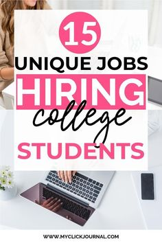 Here are unique jobs hiring college students now! These ways to make money a.Here are unique jobs hiring college students now! These ways to make money as a student include how to make money online, and job ideas for colleg. Online College, College Fun, Online Jobs, College Hacks, Make Money From Home, Way To Make Money, Make Money Online, Money Fast, Student Jobs