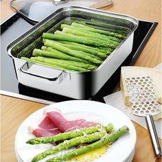 Asperges WMF Vitalis stoompan Kitchenettes, Wmf, Kitchen Equipment, Green Beans, Utensils, Home Kitchens, Shops, Asparagus, Cooking Equipment