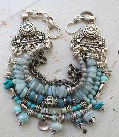 bracelet aquamarine bracelet turquoise bracelet blue