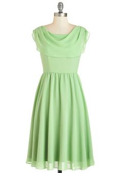 Fervour Pas de Bourrée a Day Dress in Mint. Hop, step, and sway into this flowing mint-green dress - a ModCloth exclusive by Fervour - and delight in an instantly romantic appearance! #green #prom #wedding #bridesmaid #modcloth