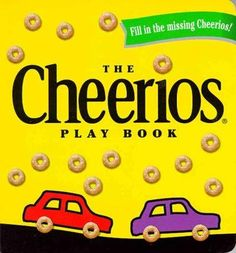 Bring your own Cheerios! On every page, there are pictures that need to be completed by adding Cheerios to just the right places. (No milk, please!) Teddies need Cheerios buttons, mice need Cheerios g