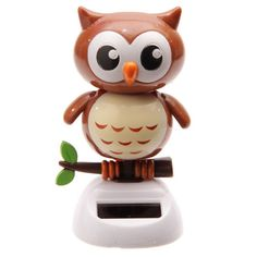 Puckator Solar-Powered Owl Ornament 6 x 6 x Dancing Toys, Dancing Figures, Solar Powered Toys, Purple Owl, Desk Toys, Owl Ornament, Garden Gifts, Snowman, Things To Sell