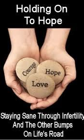 Holding on to hope, staying sane through #infertility & the other bumps on life's road...  #fertility #ivf