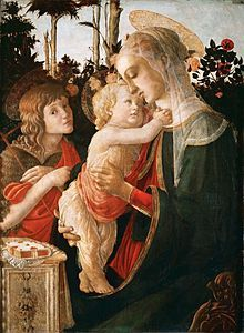 Sandro Botticelli Madonna and Christ with Saint John the Baptist c. 1470-05   - Wikipedia, the free encyclopedia