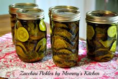 Zucchini Pickles - Perfect for Zucchini Overload Canning Zucchini, Zucchini Pickles, Zucchini Crisps, Canning Vegetables, Country Cooking, Homemade Sauce, Heart Healthy Recipes, Canning Recipes, Perfect Food