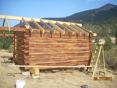 How to build a log cabin with dovetail notches for Cabine remote fumose montagne