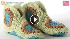 Hello everyone. I want to share withyou this video tutorial of how to crochet vintage granny slippers.This video is made by The Crochet Crowdand explain you in minimal detail how to make this slippers.  Complexity: Advanced Beginner Hope…