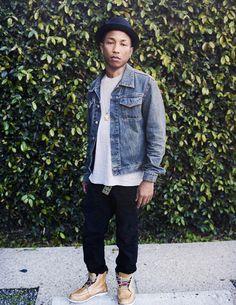 Pharrell Williams Wife me? Pharrell Williams, Urban Fashion, Mens Fashion, Fashion Outfits, Style Fashion, Stylish Men, Men Casual, Estilo Hip Hop, Skateboard
