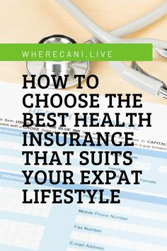 Choosing a health insurance can be a huge task. With so many things to consider you may find yourself lost and signing up to something that may not even cover you when you need it most. So let's look at what you need to look for from a health insurance cover and what you need to avoid.   #healthinsurance #expatlife #expat #travelling Student Health Insurance, International Health Insurance, Health Insurance Policies, Best Insurance, Health Insurance Companies, Working Holiday Visa, Working Holidays, Living In Europe, Medical History