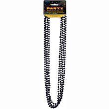 Metallic Black Party Bead Necklaces, 4ct