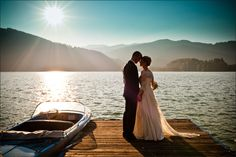 I thought I wanted to get married on a beach... Now I want it in a lake. That's where A and I first fell in love. (Photos/website credit to Martina Rinke)