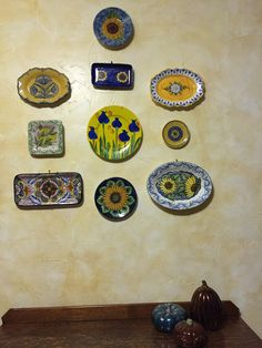 Ceramic art from trips abroad