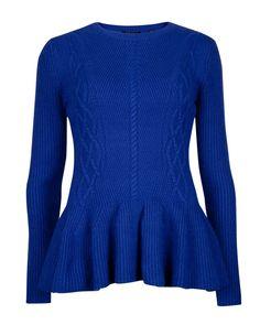 e1a2008bbccd5 Peplum jumper - Bright Blue