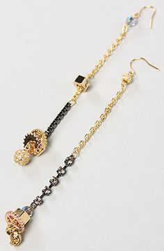 The Disney Couture Jewelry X Dr. Romanelli Mixed Chain Bolt and Charm Earrings by Disney Couture Jewelry Disney Couture Jewelry, Disney Jewelry, Disney Dream, Don't Worry, The Little Mermaid, Alice In Wonderland, Minnesota, Tassel Necklace, Jewerly
