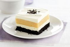 OREO Cookies.  Peanut butter. Cream cheese. Pudding.  COOL WHIP. A classically delicious flavor combination made delectably creamy and lusciously smooth.