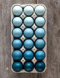 Blue ombre Easter eggs