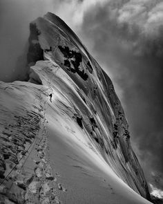 Makalu, the fifth eight-thousander m) in height, is one of the highest peaks in the Himalayas next to Everest. These stunning black and white shots were taken by British photographer Tim Taylor during the summer expedition in Mountain Climbing, Rock Climbing, Parkour, Escalade, Mountaineering, Climbers, Skiing, Snowboarding, Nature Photography