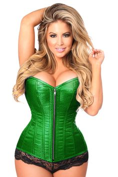 3c840b4ddf2 Plus Size Corset in Green Brocade to Size 6XL Pink Corset
