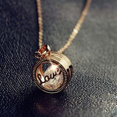 Sweet Rose Gold Love Letter Women's Necklace