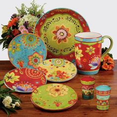 Mexican Kitchen Decor, Mexican Kitchens, Dinner Plate Sets, Dinner Plates, Dinner Sets, How To Use Dishwasher, Ceramic Tableware, Dish Sets, Salad Plates