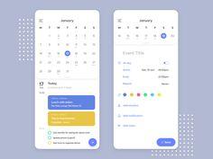 Calendar Design - Daily UI 038 by Alberto Colopi on Dribbble Calender Ui, Free Calendar, Printable Calendar Template, Web Design, App Ui Design, Interface Design, Design Layouts, User Interface, Cover Design