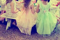 BIRTHDAY IDEA--Brilliant!  Have your daughter and her friends dress up in pretty dresses and sun hats. Set up an old fashioned tea party (simple cupcakes, tea(other drink) in tea kettle with porcelain cups, white bench, lots of flowers, outdoors) great for having old fashioned fun and an excellent set up for taking pictures!