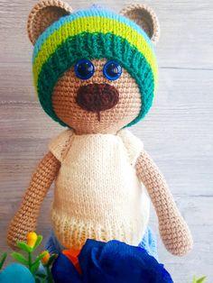 Amigurumi, crochet, dolls, toys, madeinro, handmade Crocheted Toys, Crochet Dolls, Teddy Bear, Handmade, Animals, Amigurumi, Crochet Toys, Hand Made, Animales