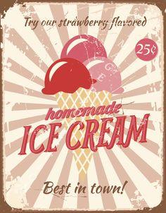 Image Detail for - Vintage ice cream tin signs by Torie Jayne Ice Cream Logo, Ice Cream Poster, Ice Cream Art, Ice Cream Parlor, Gelato, Dessert Original, Etiquette Vintage, Vintage Ice Cream, Vintage Metal Signs