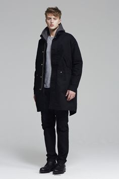 April77 Men's Fishtail Parka (Black) | Green parka | Pinterest ...