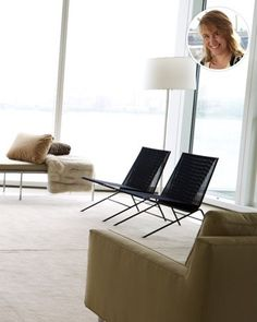 """""""My favorite thing is the set of black string chairs in the living room. They are unexpected for Kevin but create a great part of the mix in the space. And I love the story about Kevin finding them and then Alexis (Stewart) finding them in a catalog for a fourth of the price."""""""