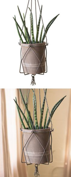 We've got news: you can indulge your nostalgic taste for macramé without relying on textiles. We love the Sowerby Hanging Planter for its cheeky artistic portrayal of the old-fashioned yarn and rope ma...  Find the Sowerby Hanging Planter, as seen in the Urban Arboretum Collection at http://dotandbo.com/collections/urban-arboretum?utm_source=pinterest&utm_medium=organic&db_sku=117719