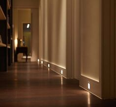 Stair wall lights recessed led wall light that are ideal for installation i Corridor Lighting, Stair Lighting, Cool Lighting, Interior Lighting, Lighting Design, Lighting Ideas, Entryway Lighting, Entryway Ideas, Lighting Stores