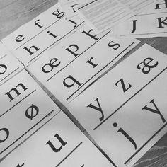 Time to proof -- #fontdesign #workinprogress #type #typeface #typographydesign #typography #typedesign #fontfamily #glyphsapp #test #proof #characterdesign #typomania #outoftheprinter