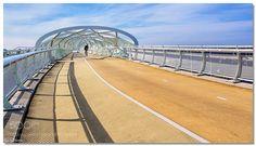 "Bicycle and pedestrian bridge ""De Netkous"" by luciannefilip"
