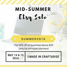 Made In Craftadise: Mid-summer Sale in my Etsy Shop