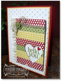 Stampin' Up! Card by Connie C: WashiTapeCard